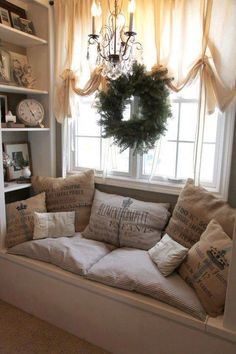 **Cozy Nook, reading a book