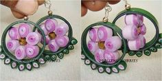 Paperquilled earring