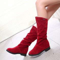 boots Shoes women shoes Bota Feminina Women bottes femmes Sexy Fashion Boots Thin High Heel Boots Black Red Brown Size 35-40