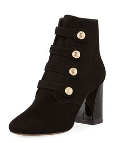9990ed91076338 Shop Marisa Suede Button Bootie from Tory Burch at Neiman Marcus Last Call