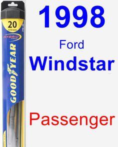 Passenger Wiper Blade for 1998 Ford Windstar - Hybrid