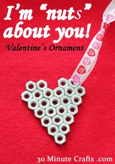 Very inexpensive Valentine. Nuts About You. DIY Valentine Card Ideas - DIY for Life Diy Valentines Cards, Cute Valentines Day Gifts, Valentine Decorations, Valentine Day Crafts, Be My Valentine, Valentine Ideas, Quick And Easy Crafts, Crafts To Make, Diy Gifts For Boyfriend