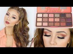 Too Faced Sweet Peach Palette Look   Spring Makeup   Lisa Lorles - YouTube