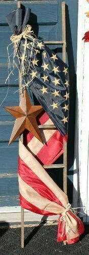 Flag idea for of July, Memorial Day, Labor Day, and other patriotic holidays! July Crafts, Holiday Crafts, Holiday Fun, Holiday Decor, Holiday Ideas, Patriotic Decorations, Patriotic Crafts, Labor Day Decorations, Americana Crafts