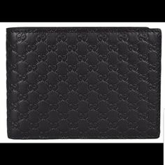 9de2c71b82ff0 Gucci Men s GG Guccissima Large Leather Bifold Gucci. Made in Italy. Black  Leather.