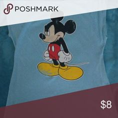 Disney micky mouse shirt Blue micky mouse shirt with micky Disney Tops Tees - Short Sleeve