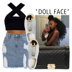 """"""""""" by wavyjai ❤ liked on Polyvore featuring Motel and Puma"""