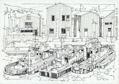 Tugboats+BW.jpg 1.600×1.136 píxeles
