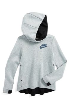 Free shipping and returns on Nike Tech Fleece Hoodie (Big Girls) at Nordstrom.com. Built for lightweight warmth with all the extra layers, this snug-fitting full hoodie is cut from breathable tech fleece for a sporty look and a drop-back hem for complete coverage.