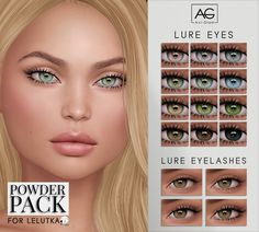 Lure Eyes & Lashes for Powder Pack - Lelutka (August) The Sims 4 Skin, The Sims 4 Pc, Sims Four, Los Sims 4 Mods, Sims 4 Game Mods, Sims 4 Mods Clothes, Sims 4 Clothing, Sims 4 Cc Eyes, Sims Cc