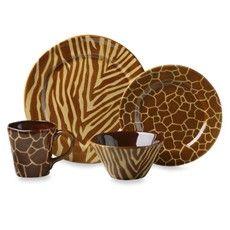 Safari style dishware   Laurie Gates American Safari Dinnerware