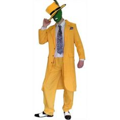 BUY :) All sizes #FancyDress Yellow Gangster Zoot Suit The Mask Jim Carrey Costume £24.99 -> http://owl.li/ZaZe3