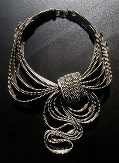 My Scarf Zipper Necklace by ReborneJewelry on Etsy, $210.00