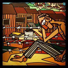 Schilder= Gabi Jimenez Met dit schilderij wordt verteld dat het verleden niet vergeten moet worden.
