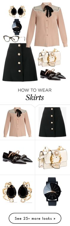 """""""Miu Miu Outfit, Bag, Shoes, Glasses"""" by naviaux on Polyvore featuring Miu Miu and Bounkit"""