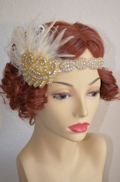 READY TO SHIPVintage headpieceart deco headpiece1920s by caeseone, $75.00
