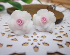 10 pcs 14 mm Polymer Clay Flower roseBeads FIMO by sunshinepark99