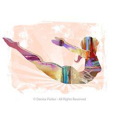 Art yoga Acacia POSE couleurs soleil petit Art mural