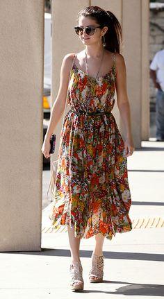 pleated flower dress