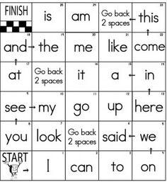 Kindergarten Sight Words: April 2012