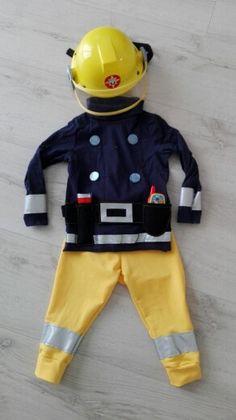 Feuerwehrmann Sam Kostüm selbst gemacht.