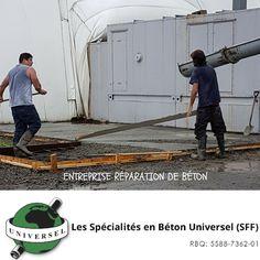 Réfection de béton stationnement intérieur. 1855 613 4773. www.betonuniversel.com