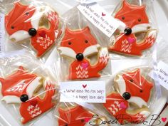 Fox Cookie Favor by Sweet Dani B