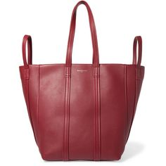 Balenciaga Balenciaga - Laundry Leather Tote - Claret (€1.755) ❤ liked on Polyvore featuring bags, handbags, tote bags, balenciaga tote bag, balenciaga, balenciaga handbags, balenciaga tote and balenciaga purse