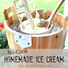 How do you plan to endure the dog days of summer? We'll cope by making a freezer of my no-cook homemade ice cream! Warning: May be habit forming! cream recipes No-Cook Homemade Ice Cream - Sondra Lyn at Home Homemade Strawberry Ice Cream, Making Homemade Ice Cream, Homemade Vanilla, Homemade Ice Cream Machine, Ice Cream Machine Recipes, Homade Ice Cream Recipes, Ice Cream Maker Machine, Homemade Dog, Hot Fudge