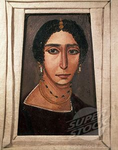 Portrait of a Woman | Unknown | 3rd century | encaustic painting on wood | 21 5/8 x 13 3/8 in | Louvre, Paris, France
