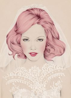 By Emma Leonard - Hitched Magazine..pretty and beautiful illustration, well drawn, these artist show very well beauty of face