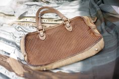 Leather and straw Summer Bag