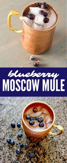 Moscow Mule with Blueberries