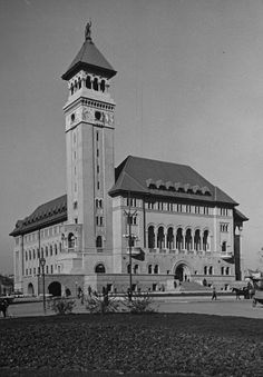 Bucharest 1938 The old City Hall (sectorul 1 - rosu) Old Pictures, Old Photos, Europe Eu, Byzantine Architecture, Little Paris, Bucharest Romania, Interesting Buildings, City Break, Old City
