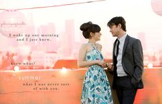 500 Days of Summer.   This is not a love story. It's a story about love.