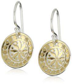 "Anna Beck Designs ""Bali"" 18k Gold-Plated Mosaic Dish Earring"
