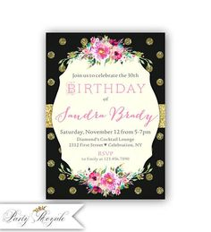 307 Best Birthday Invitations For Women Images On Pinterest