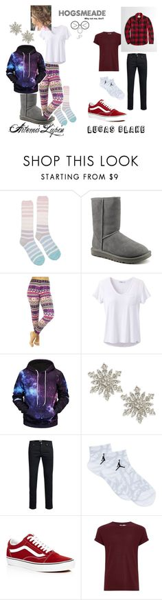 """Hogsmeade"" by lunashlyn ❤ liked on Polyvore featuring Joules, UGG, prAna, Design Lab, Jack & Jones, Jordan Brand, Vans, Topman and Hollister Co."