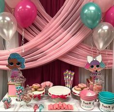 1 lol surprise dolls birthday baby shower cake topper centerpiece table decor #Handmade #birthdaybabyshower Birthday Party Table Decorations, Birthday Party Tables, 4th Birthday Parties, 8th Birthday, Birthday Ideas, Wild One Birthday Party, Surprise Birthday, Leelah, Doll Party