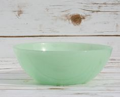 Jadeite Vintage Mixing Bowl Mid Century Green Milk Glass by WhimsyChicEmporium on Etsy
