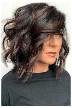 Haircuts With Bangs, Layered Haircuts, Layered Lob, Hairstyles Haircuts, Woman Hairstyles, Simple Hairstyles, Holiday Hairstyles, Celebrity Hairstyles, Long Bob Haircuts With Layers