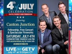 TODAY is the day! Are you coming to celebrate with us? You can come to Cornerstone Church in person or join us on getv.org at 5:00 p.m. CT. We look forward to seeing you there as we celebrate AMERICA by honoring our military personnel and thanking God for his many blessings in our lives. #Cornerstone4th