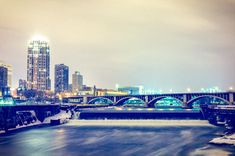 Winter Spillway  Minneapolis MN  5x7 to 17x29 by LoganStuckPhoto, $14.99