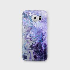 Purple & White Samsung Phone Case Amethyst Purple by LouiseMead