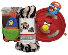 Puppy Play and Sleep Gift Set with Bird Toys and Bed 3 Piece Bundle -- You can get more details here : Pet dog bedding