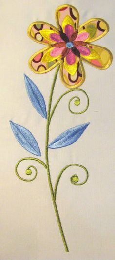 Vintage Flower 04 Machine Applique Embroidery Design  by KCDezigns, $3.50