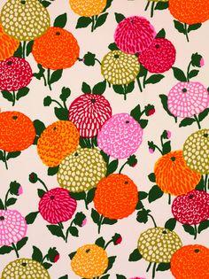 floral textile design by Abraham Ltd - 1971