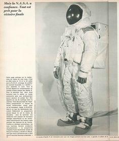 """Le piéton de la Lune. """"Cette page anticipe sur la réalité"""". La mission Apollo 9. Paris Match, 1er mars 1969"""