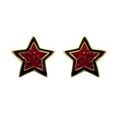 Crystal #Star Stud #Earrings