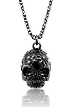 Steel Skull Head Pendant - AHHHHHH!